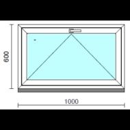 Bukó ablak.  100x 60 cm (Rendelhető méretek: szélesség 95-104 cm, magasság 55- 64 cm.)   Optima 76 profilból