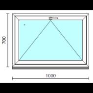 Bukó ablak.  100x 70 cm (Rendelhető méretek: szélesség 95-104 cm, magasság 65- 74 cm.)   Optima 76 profilból