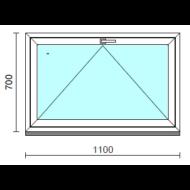 Bukó ablak.  110x 70 cm (Rendelhető méretek: szélesség 105-114 cm, magasság 65- 74 cm.)   Optima 76 profilból