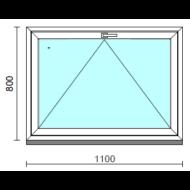 Bukó ablak.  110x 80 cm (Rendelhető méretek: szélesség 105-114 cm, magasság 75- 84 cm.)   Optima 76 profilból
