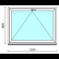 Bukó ablak.  120x 90 cm (Rendelhető méretek: szélesség 115-124 cm, magasság 85- 90 cm.)   Optima 76 profilból