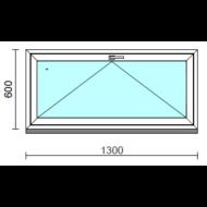 Bukó ablak.  130x 60 cm (Rendelhető méretek: szélesség 125-134 cm, magasság 55- 64 cm.)   Optima 76 profilból