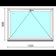 Bukó ablak.  130x 90 cm (Rendelhető méretek: szélesség 125-134 cm, magasság 85- 90 cm.)   Optima 76 profilból
