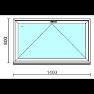 Bukó ablak.  140x 80 cm (Rendelhető méretek: szélesség 135-144 cm, magasság 75- 84 cm.)   Optima 76 profilból
