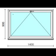 Bukó ablak.  140x 90 cm (Rendelhető méretek: szélesség 135-144 cm, magasság 85- 90 cm.)   Optima 76 profilból