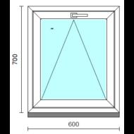 Bukó ablak.   60x 70 cm (Rendelhető méretek: szélesség 55- 64 cm, magasság 65- 74 cm.)   Optima 76 profilból
