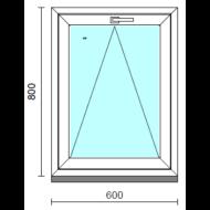 Bukó ablak.   60x 80 cm (Rendelhető méretek: szélesség 55- 64 cm, magasság 75- 84 cm.)   Optima 76 profilból
