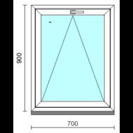 Bukó ablak.   70x 90 cm (Rendelhető méretek: szélesség 65- 74 cm, magasság 85- 90 cm.)   Optima 76 profilból