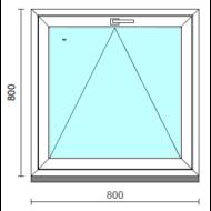 Bukó ablak.   80x 80 cm (Rendelhető méretek: szélesség 75- 84 cm, magasság 75- 84 cm.)   Optima 76 profilból