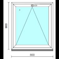 Bukó ablak.   80x 90 cm (Rendelhető méretek: szélesség 75- 84 cm, magasság 85- 90 cm.)   Optima 76 profilból