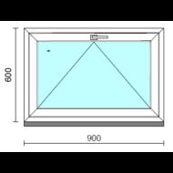 Bukó ablak.   90x 60 cm (Rendelhető méretek: szélesség 85- 94 cm, magasság 55- 64 cm.)   Optima 76 profilból