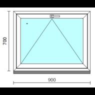 Bukó ablak.   90x 70 cm (Rendelhető méretek: szélesség 85- 94 cm, magasság 65- 74 cm.)   Optima 76 profilból