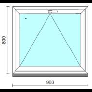 Bukó ablak.   90x 80 cm (Rendelhető méretek: szélesség 85- 94 cm, magasság 75- 84 cm.)   Optima 76 profilból