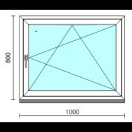 Bukó-nyíló ablak.  100x 80 cm (Rendelhető méretek: szélesség 95-104 cm, magasság 75- 84 cm.)  New Balance 85 profilból
