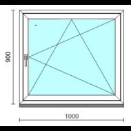 Bukó-nyíló ablak.  100x 90 cm (Rendelhető méretek: szélesség 95-104 cm, magasság 85- 94 cm.)  New Balance 85 profilból