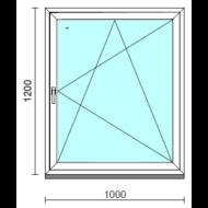 Bukó-nyíló ablak.  100x120 cm (Rendelhető méretek: szélesség 95-104 cm, magasság 115-124 cm.)   Optima 76 profilból
