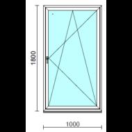 Bukó-nyíló ablak.  100x180 cm (Rendelhető méretek: szélesség 95-104 cm, magasság 175-180 cm.)   Optima 76 profilból