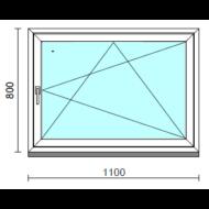Bukó-nyíló ablak.  110x 80 cm (Rendelhető méretek: szélesség 105-110 cm, magasság - 84 cm.)  New Balance 85 profilból
