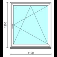 Bukó-nyíló ablak.  110x120 cm (Rendelhető méretek: szélesség 105-114 cm, magasság 115-124 cm.)   Optima 76 profilból