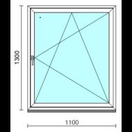 Bukó-nyíló ablak.  110x130 cm (Rendelhető méretek: szélesség 105-114 cm, magasság 125-134 cm.)   Optima 76 profilból