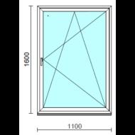 Bukó-nyíló ablak.  110x160 cm (Rendelhető méretek: szélesség 105-114 cm, magasság 155-164 cm.)   Optima 76 profilból