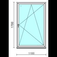 Bukó-nyíló ablak.  110x170 cm (Rendelhető méretek: szélesség 105-114 cm, magasság 165-174 cm.)  New Balance 85 profilból