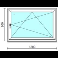 Bukó-nyíló ablak.  120x 80 cm (Rendelhető méretek: szélesség 115-120 cm, magasság - 84 cm.)  New Balance 85 profilból