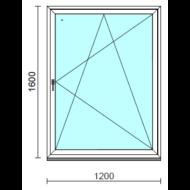 Bukó-nyíló ablak.  120x160 cm (Rendelhető méretek: szélesség 115-124 cm, magasság 155-164 cm.)  New Balance 85 profilból