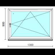 Bukó-nyíló ablak.  130x 90 cm (Rendelhető méretek: szélesség 125-130 cm, magasság - 94 cm.)   Optima 76 profilból