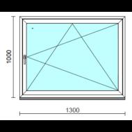 Bukó-nyíló ablak.  130x100 cm (Rendelhető méretek: szélesség 125-134 cm, magasság 95-104 cm.)  New Balance 85 profilból