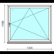 Bukó-nyíló ablak.  130x110 cm (Rendelhető méretek: szélesség 125-134 cm, magasság 105-114 cm.)   Optima 76 profilból