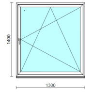 Bukó-nyíló ablak.  130x140 cm (Rendelhető méretek: szélesség 125-134 cm, magasság 135-144 cm.)   Optima 76 profilból
