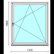 Bukó-nyíló ablak.  130x150 cm (Rendelhető méretek: szélesség 125-134 cm, magasság 145-154 cm.)  New Balance 85 profilból