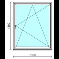 Bukó-nyíló ablak.  130x160 cm (Rendelhető méretek: szélesség 125-134 cm, magasság 155-160 cm.)   Optima 76 profilból