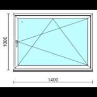 Bukó-nyíló ablak.  140x100 cm (Rendelhető méretek: szélesség 135-140 cm, magasság -104 cm.)   Optima 76 profilból