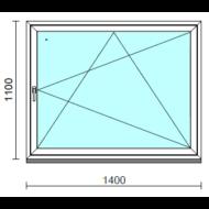 Bukó-nyíló ablak.  140x110 cm (Rendelhető méretek: szélesség 135-144 cm, magasság 105-114 cm.)  New Balance 85 profilból