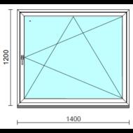 Bukó-nyíló ablak.  140x120 cm (Rendelhető méretek: szélesség 135-144 cm, magasság 115-124 cm.)  New Balance 85 profilból