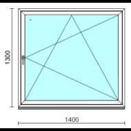 Bukó-nyíló ablak.  140x130 cm (Rendelhető méretek: szélesség 135-144 cm, magasság 125-134 cm.)   Optima 76 profilból
