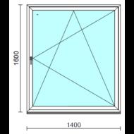 Bukó-nyíló ablak.  140x160 cm (Rendelhető méretek: szélesség 135-140 cm, magasság 155-160 cm.) Deluxe A85 profilból