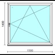 Bukó-nyíló ablak.  150x140 cm (Rendelhető méretek: szélesség 145-150 cm, magasság 135-144 cm.)   Optima 76 profilból