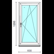 Bukó-nyíló ablak.   60x120 cm (Rendelhető méretek: szélesség 55- 64 cm, magasság 115-124 cm.)   Optima 76 profilból