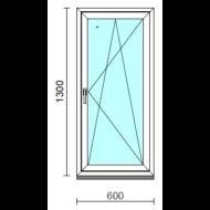 Bukó-nyíló ablak.   60x130 cm (Rendelhető méretek: szélesség 55- 64 cm, magasság 125-134 cm.)  New Balance 85 profilból
