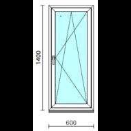 Bukó-nyíló ablak.   60x140 cm (Rendelhető méretek: szélesség 55- 64 cm, magasság 135-144 cm.)  New Balance 85 profilból