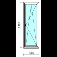 Bukó-nyíló ablak.   60x180 cm (Rendelhető méretek: szélesség 55- 64 cm, magasság 175-180 cm.)   Optima 76 profilból