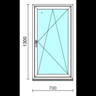 Bukó-nyíló ablak.   70x130 cm (Rendelhető méretek: szélesség 65- 74 cm, magasság 125-134 cm.)  New Balance 85 profilból