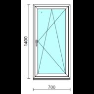 Bukó-nyíló ablak.   70x140 cm (Rendelhető méretek: szélesség 65- 74 cm, magasság 135-144 cm.) Deluxe A85 profilból