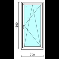 Bukó-nyíló ablak.   70x150 cm (Rendelhető méretek: szélesség 65- 74 cm, magasság 145-154 cm.)   Optima 76 profilból