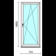 Bukó-nyíló ablak.   70x160 cm (Rendelhető méretek: szélesség 65- 74 cm, magasság 155-164 cm.)   Optima 76 profilból