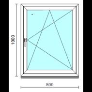 Bukó-nyíló ablak.   80x100 cm (Rendelhető méretek: szélesség 75- 84 cm, magasság 95-104 cm.)  New Balance 85 profilból