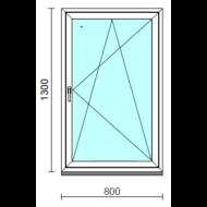 Bukó-nyíló ablak.   80x130 cm (Rendelhető méretek: szélesség 75- 84 cm, magasság 125-134 cm.) Deluxe A85 profilból